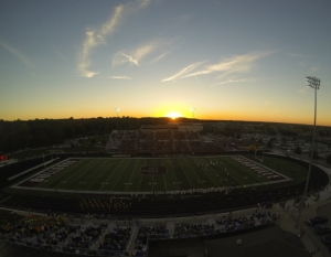 Sunset over Homecoming