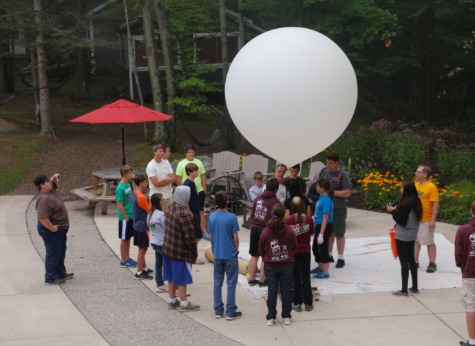 Wednesday's activities included a weather balloon launch!