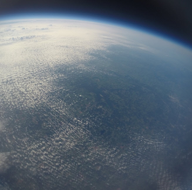 A final balloon photo - from approximately 90,000 feet up!