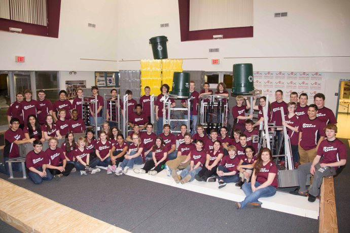 Three RoboDawg Teams with their primary and backup robots